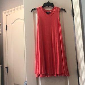 Coral T-shirt Sunday Dress